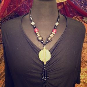 Vintage Bohemian Tribal Ethnic statement Necklace
